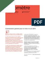 Baromètre Champagne-Ardenne - Août 2015