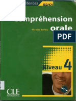 Compréhension Orale Niveau 4 (B2-C1) - CLE International