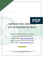 Cartilha Para Adesão de Ata de Registro de Preço Ufba