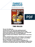 Two Rules - Opinion of Lew White