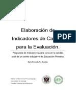 Elaboración de Indicadores de Calidad Para La Evaluación