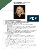 Jeremy Bentham - A Quick Summary