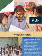 Predictors of IFVL presentation f