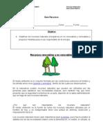 Guía Recursos Renovables y No Renovables