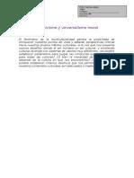 Ficha 4. Universalismo y Relativismo