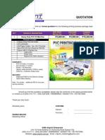 PVC ID Quotation