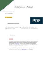 Influência Do Direito Romano e Portugal