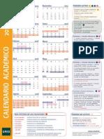 Calendario a4  Uned 2015-16