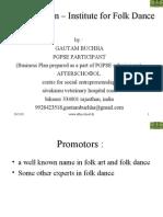 Business Plan – Institute for Folk Dance