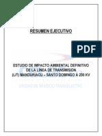 Estudio impacto ambiental - Lt Manduriacu - Santo Domingo
