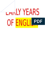 Early Years of English