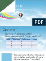Pemrograman Java - Pertemuan III