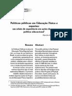 Politicas Publicas e Educaçao Física Realto de Experiência