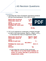 Chemistry as Revision Questions F332