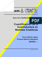 Cuantificación de La Incertidumbre en Medidas Analíticas