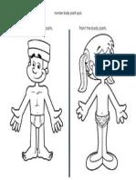 Body Parts Quiz