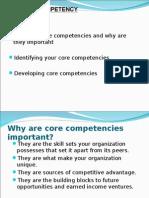 Core Competency Presentation-strategic management