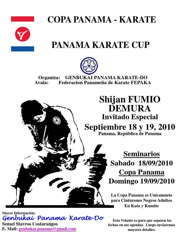 Copa Panama - Karate Panama Karate Cup: Shijan FUMIO Demura