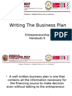 Entrepreneurship (Writing the Business Plan)