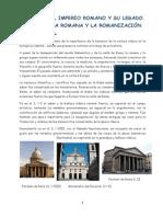 UNIDAD 0.Roma y La Herencia Cultural Romana