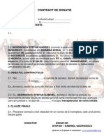 Contract de Donatie Stefan Georgescu