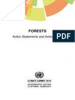 New York Declaration on Forest – Action Statement and Action Plan May2015