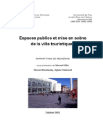 Espaces Publics mise en scènede la ville touristique
