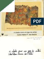 Carlos Nelson F Santos - A Cidade Como Um Jogo de Cartas