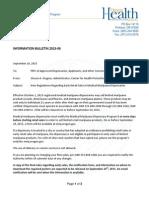 Marijuana Informational Bulletin 2015-04