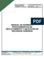 Manual de n0rmas y Procedimientos de Reclutamiento y Seleccion