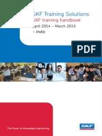 SKF Training Solutions Training Calendar 2014 15