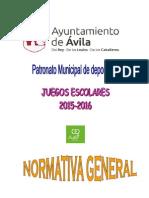 Normativa General 2015-2016