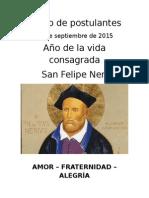 Retiro de Postulantes, 27 de Septiembre