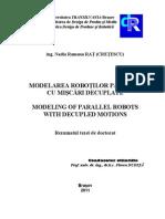 modelarea robotilor paraleli