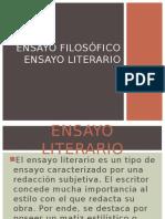 Ensayo Filosófico y Literario (1)