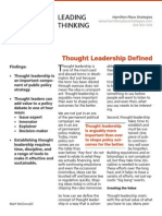 Thought Leadership Defined