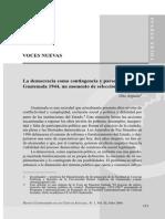 La Democracia Como Contingencia y Paradoja Guatemala 1944