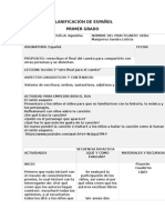Planificacion Español, Leccion 3 Bloque 2