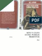E Jensen - Mito y Culto Entre Pueblos Primitivos