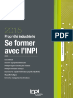 Catalogue Formations Externes Inpi 2015 Propriete Intellectuelle