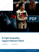 To Fight Inequality, Support Women's Work