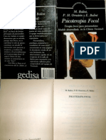 Psicoterapia Focal. Terapia Breve Para Psicoanalistas [M. Balint, P.H. Ornstein & E. Balint]