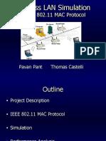 Wireless LAN Simulation
