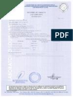 Constancia de Analisis Microbiologico H2O Julio 2015
