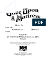 Once Upon a Mattress Cover Page