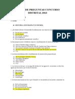 Banco de Preguntas Concurso Distrital 2013