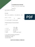 El Teorema de De Moivre