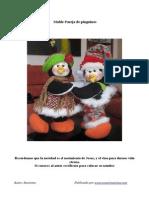 Molde Pinguinos Navidad