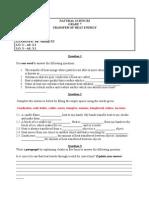 NS WORKSHEET (Transfer of Heat Energy)