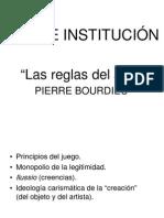 """""""Arte e Institución"""" Reglas de arte por Bourdieu"""